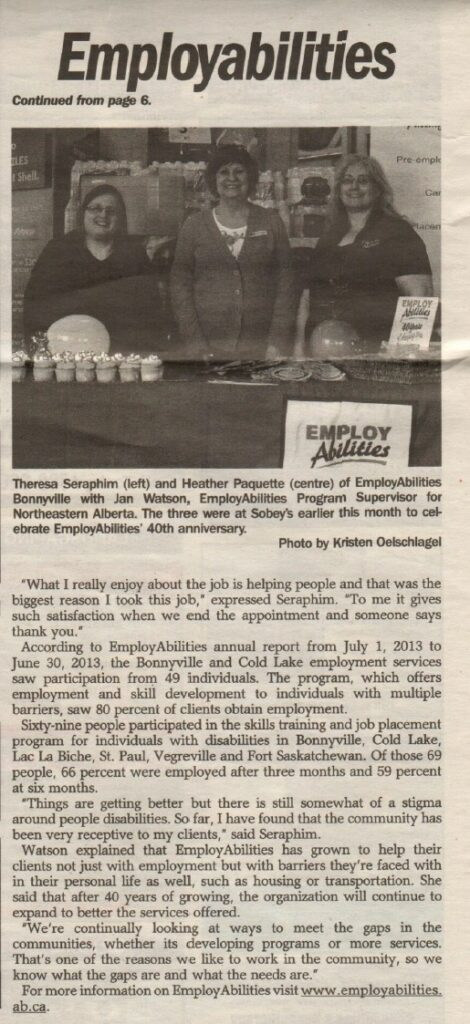 EmployAbilities 40 Years Bonnyville 2