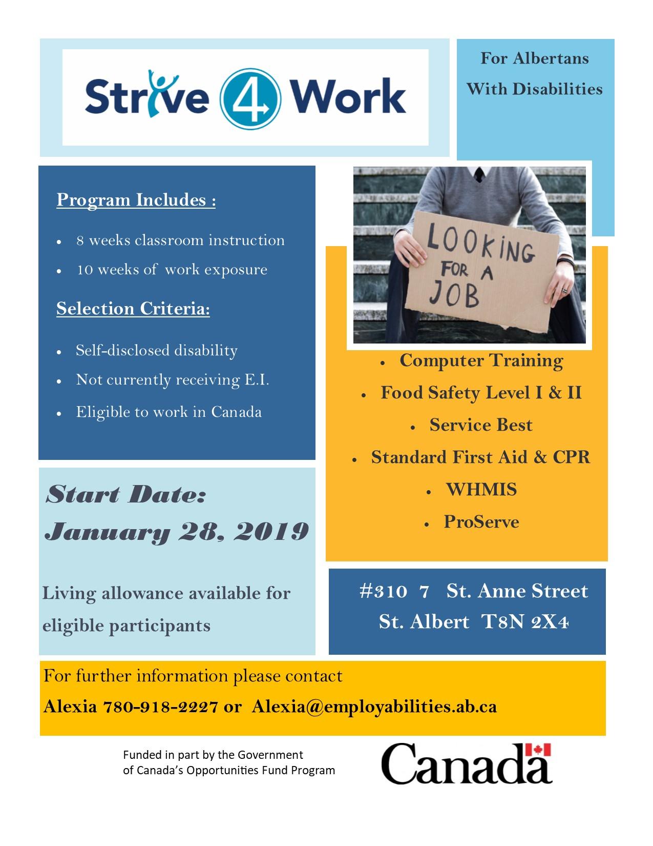 Strive to Work in St  Albert - EmployAbilities